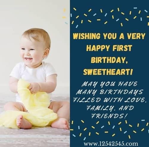 1st Birthday Wishes Grandson
