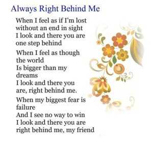 happy friendship day poems in english