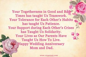 Wedding Anniversary Mom and Dad