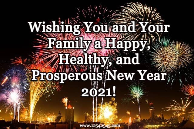 Happy New Year Wishes for Friends and Family Members