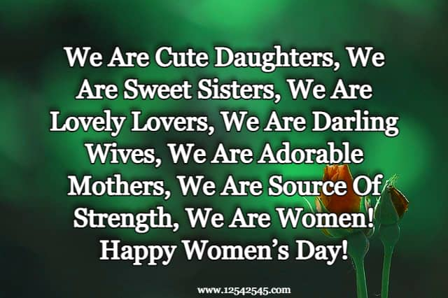 Happy International Women's Day Inspirational Quotes