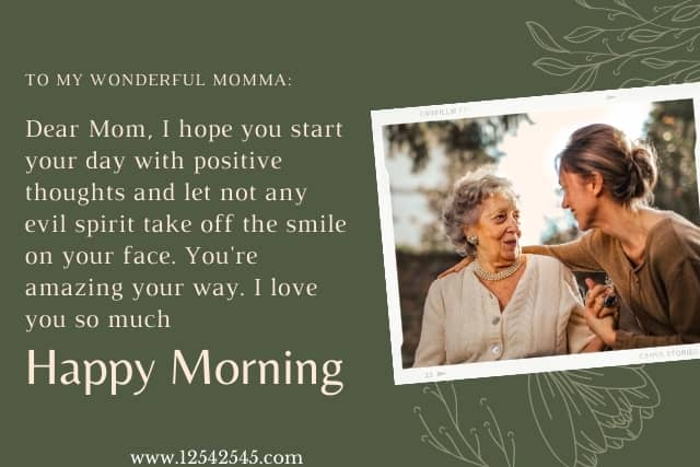 Good Morning Quotes mom dad