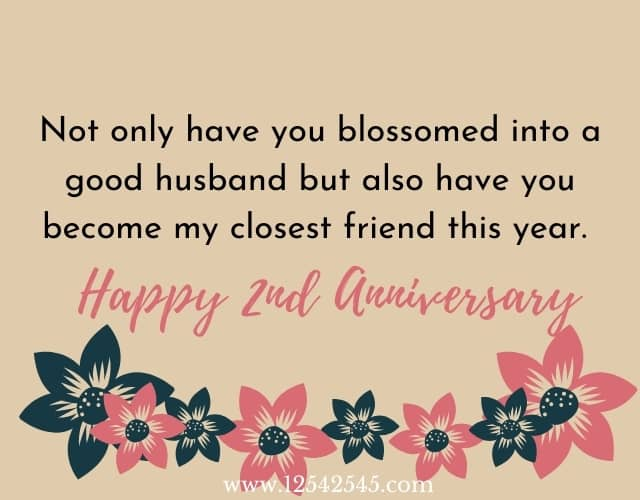 2nd Wedding Anniversary Wishes for Husband