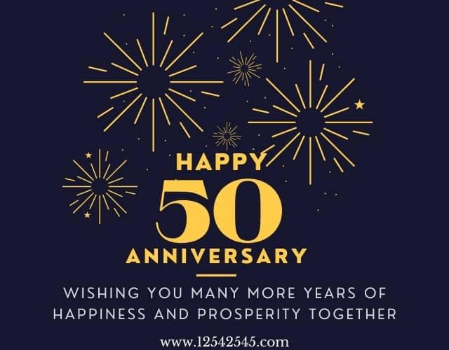 50th Wedding Anniversary Wishes