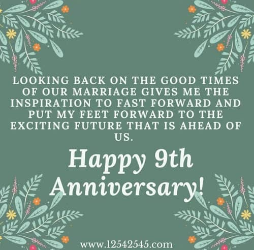 9th anniversary wishes