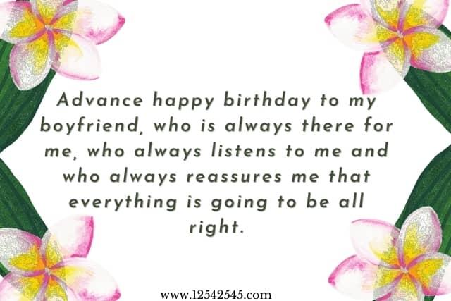 advance happy birthday wishes