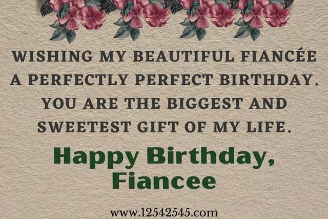 birthday wishes for fiancee