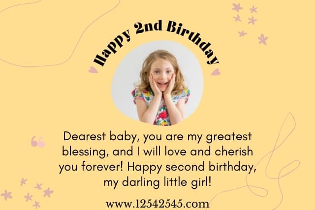 Birthday Wishes for a 2 Year Old Baby Girl