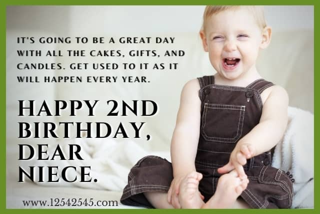 Birthday Wishes for a 2 Year Old Niece