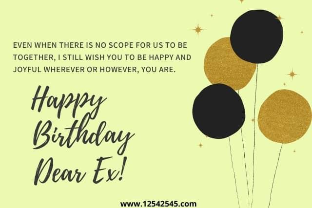 Birthday Messages for Ex-boyfriend