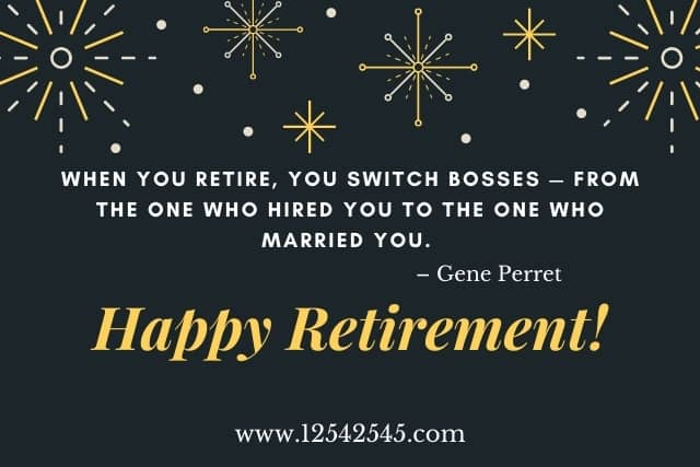 funny retirement wishes for boss