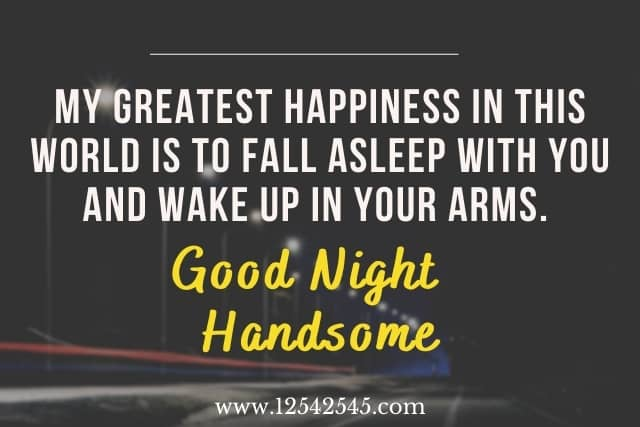 good night handsome quotes