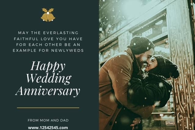 Wedding Anniversary Wishes for Son and Daughter in Law