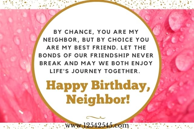 Birthday Wishes for a Neighbor
