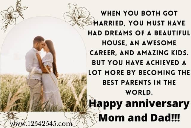 Wedding anniversary whatsapp status for mom and dad