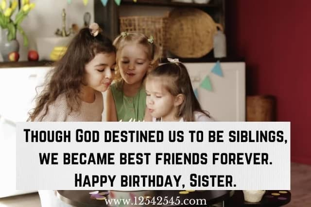 christian birthday wishes for sister