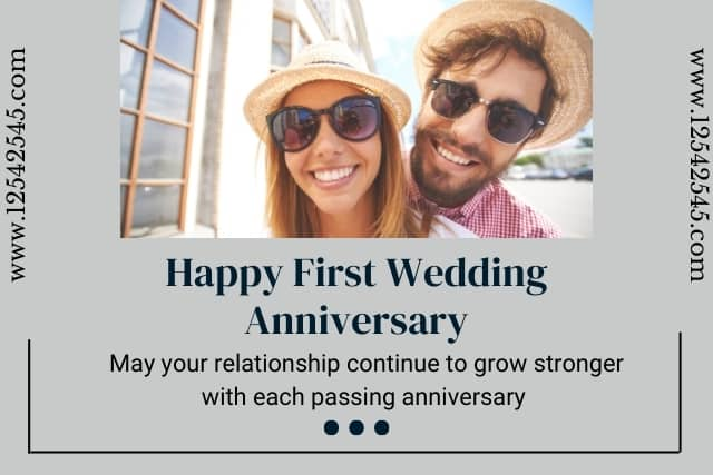 First Wedding Anniversary Wishes to a Couple
