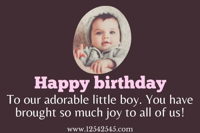 First Birthday Wishes for Son