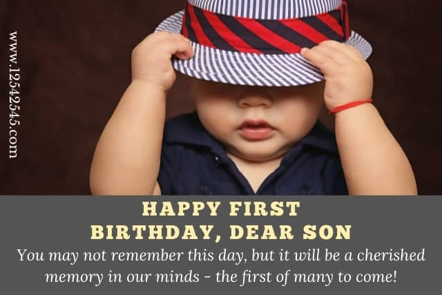 First Birthday Wishes for a baby