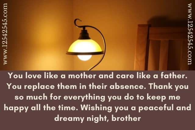 Good Night Messages for Brother