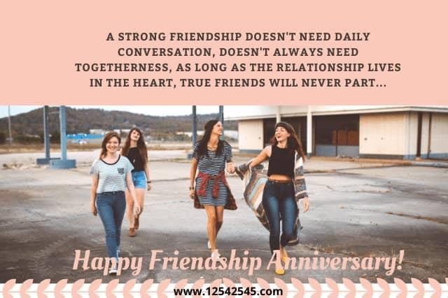 friendship anniversary messages
