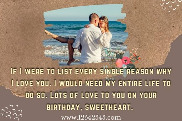 Romantic Birthday Wishes for Fiancée